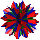 Flower of the Rhombitruncated icosidodecahedron